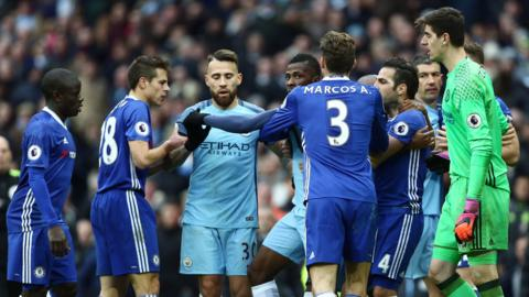 Mass brawl City v Chelsea