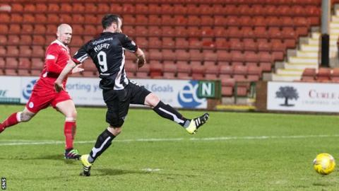 Michael Moffat opens the scoring for Dunfermline