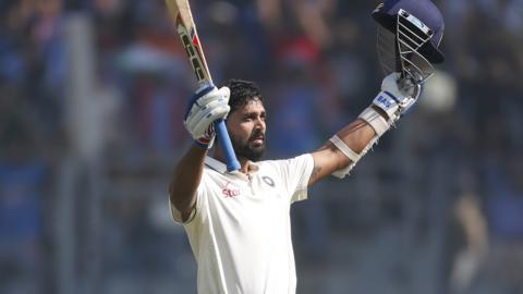 Murali Vijay raises his bat