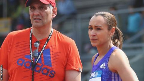 Toni Minichiello and Jessica Ennis-Hill
