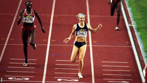 Allison Curbishley competing at the 1998 Commonwealth Games
