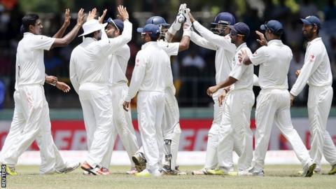 India celebrate in Colombo