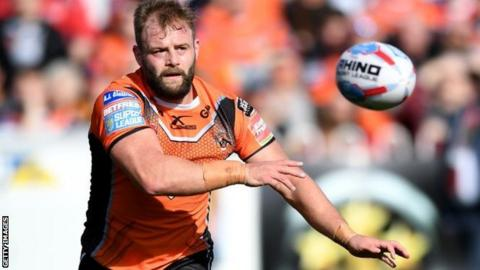 Paul McShane in action for Castleford