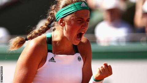 Jelena Ostapenko wins French Open final against Simona Halep