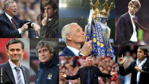 Sir Alex Ferguson, Kenny Dalglish, Jose Mourinho, Manuel Pellegrini, Claudio Ranieri, Carlo Ancelotti, Arsene Wenger, Roberto Mancini