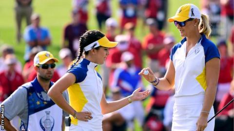 Solheim Cup: USA whitewash Europe in fourballs to claim three-point lead