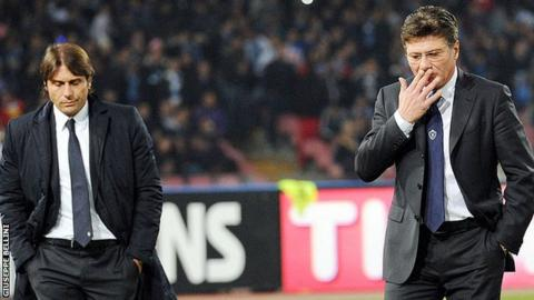 Antonio Conte and Walter Mazzarri