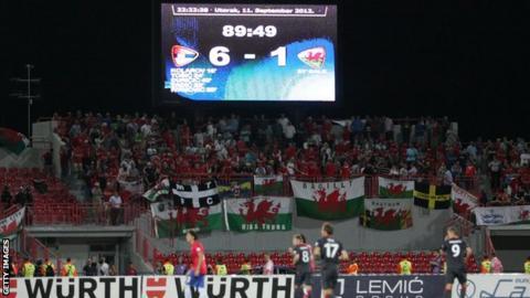 Wales v Serbia scoreboard
