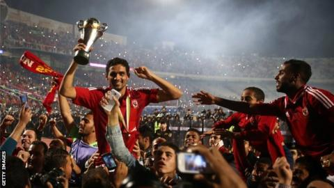 Al Ahly celebrate winning the 2014 Confederation Cup