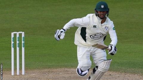 Worcestershire opening batsman Brett D'Oliveira