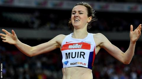 Laura Muir won the 1500m event at the 2016 Diamond League