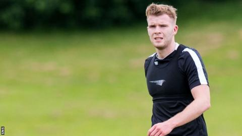 Chris Cadden during pre-season training with Motherwell