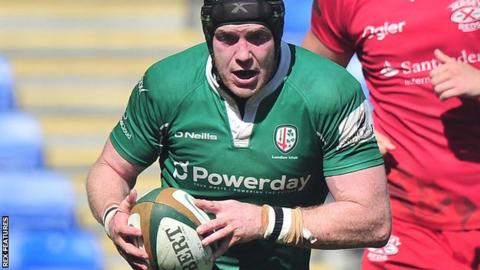London Irish back row Conor Gilsenan