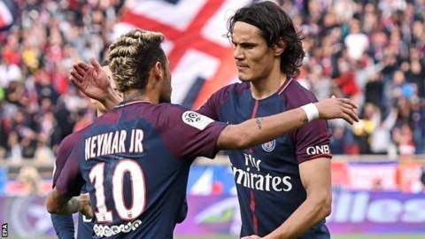 Neymar scores fabulous free-kick in PSG's win over Bordeaux