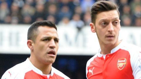Alexis Sanchez (left) and Mesut Ozil