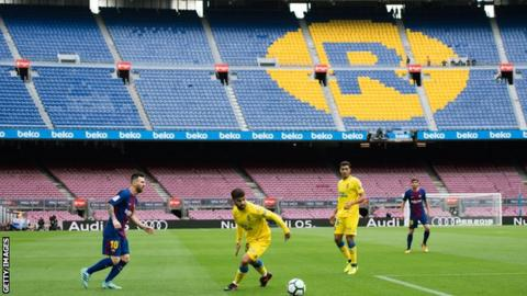 Barcelona match goes ahead behind closed doors