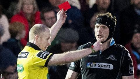 Tim Swinson is sent off