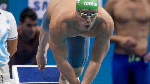 Jordan Sloan will compete for the Ireland in the 50m freestyle heats on Friday