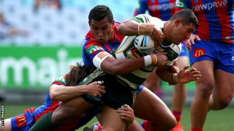 Ipswich Jets' Billy McConnachie scores a try