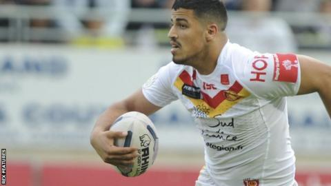 Fouad Yaha in action for Catalans Dragons