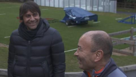 Antonio Conte and Eddie Jones