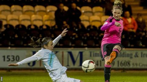 Leanne Ross was among the Scotland scorers in the win over Austria