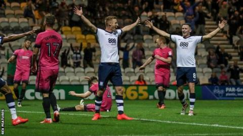 Preston celebrate Doyle's late winner