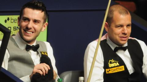 Mark Selby and Barry Hawkins
