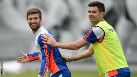 Mark Wood and James Anderson