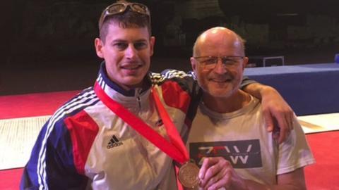 Richard Kruse and coach Ziemek Wojciechowski