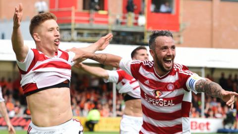 Hamilton lead at home to Dundee United