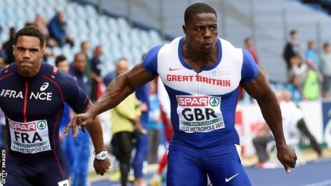 Harry Aikines-Aryeetey stars as Great Britain sit third in Lille