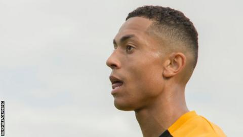 Alex Reid playing for Rushall Olympic