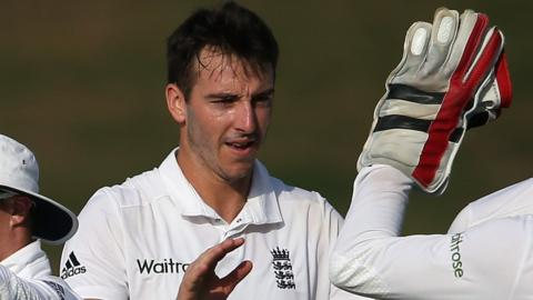 Toby Roland-Jones playing for England Lions