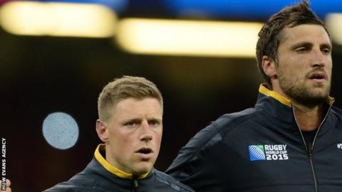Rhys Priestland and Luke Charteris