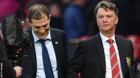 Slaven Bilic (left) and Louis van Gaal