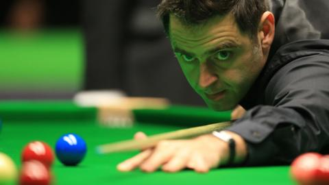 Ronnie O'Sullivan in the first round of the 2016 UK Championship