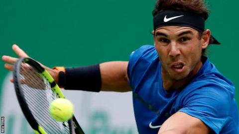 Nadal needs three sets to oust Dimitrov at Shanghai Masters