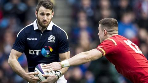 Scotland try-scorer Tommy Seymour