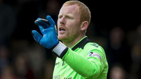 Motherwell goalkeeper Craig Samson
