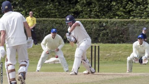 George Munsey made his 100 from 180 balls