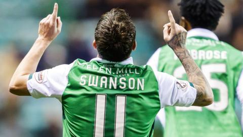 Danny Swanson celebrates