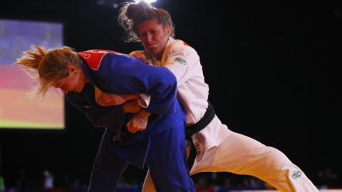Natalie Powell (right) defeated rival Gemma Gibbons in the 2014 Commonwealth Games final in Glasgow