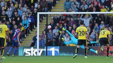 Yohan Cabaye's penalty was the first goal Watford have conceded at home this season