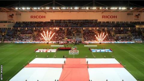 England play Scotland at the Ricoh Arena