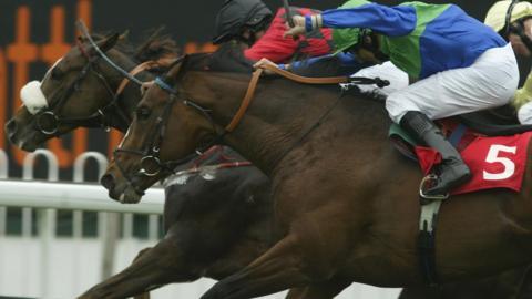 Horse racing from Sandown