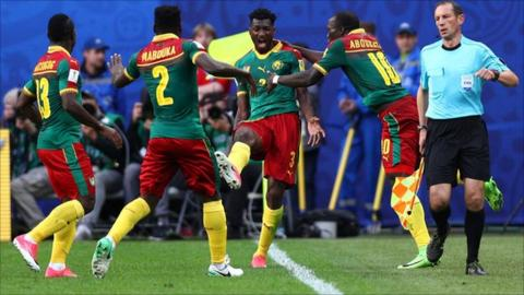 Cameroon players