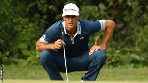 Dustin Johnson at the Canadian Open