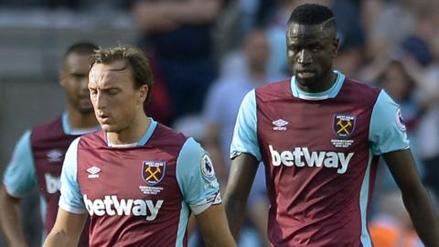 West Ham dejected by defeat against Southampton