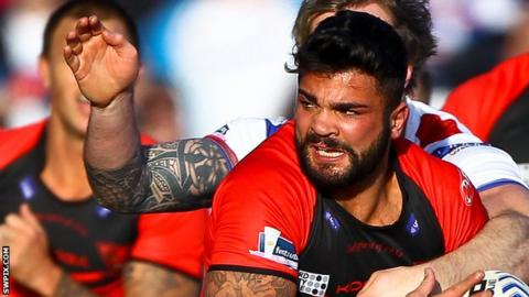 Jason Walton playing for Salford Red Devils